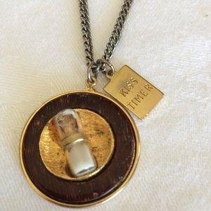 Vintage Kiss Timer Necklace